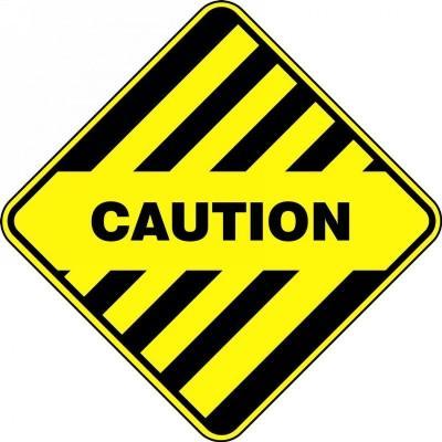 Caution - Diamond Floor Sign