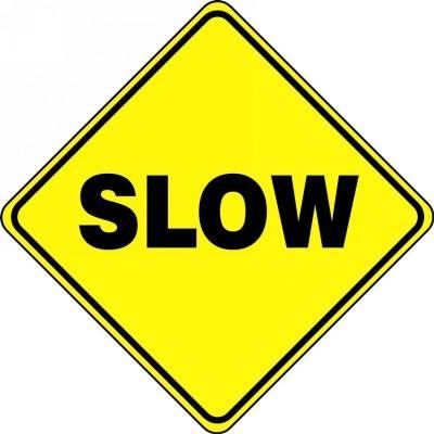 Slow - Diamond Floor Sign