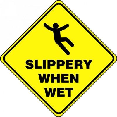 Slippery When Wet - Diamond Floor Sign