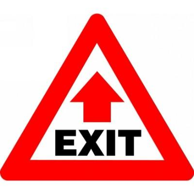 Exit - Triangular Floor Sign