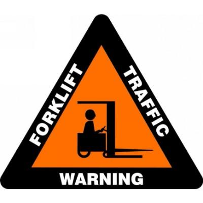Forklift Traffic Warning - Triangular Floor Sign