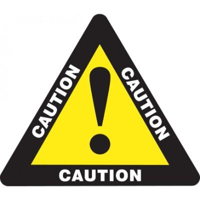 Caution - Triangular Floor Sign