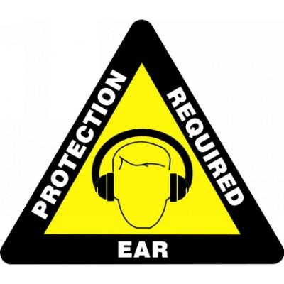 Ear Protection Required - Triangular Floor Sign