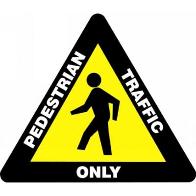 Pedestrian Traffic Only - Triangular Floor Sign