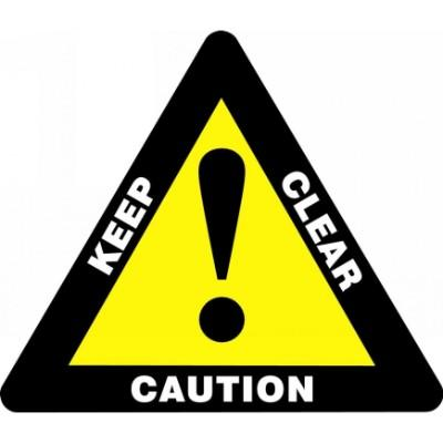 Caution Keep Clear - Triangular Floor Sign