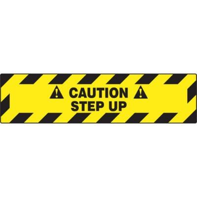 Caution - Step Up - Step Style Floor Sign