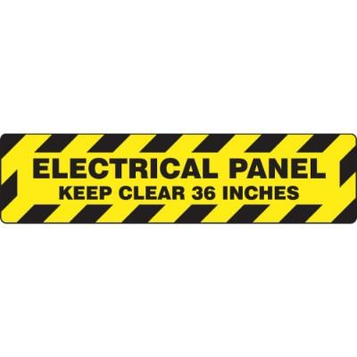 Electrical Panel Keep Clear 36 Inches - Step Style Floor Sign