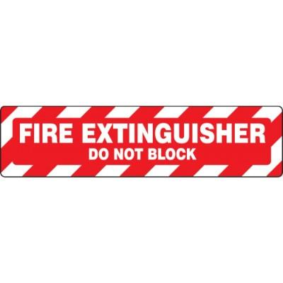 Fire Extinguisher - Do Not Block - Step Style Floor Sign