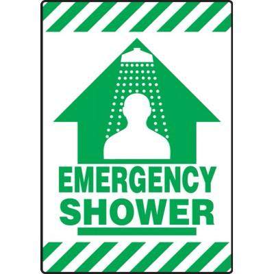 Emergency Shower - Mat Style Floor Sign