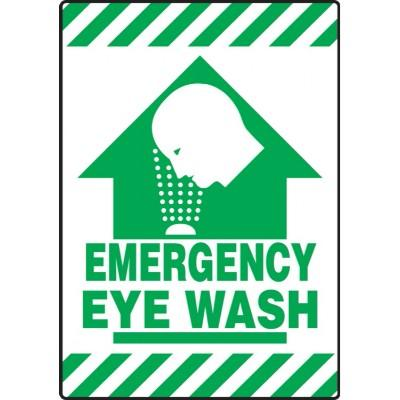 Emergency Eye Wash - Mat Style Floor Sign