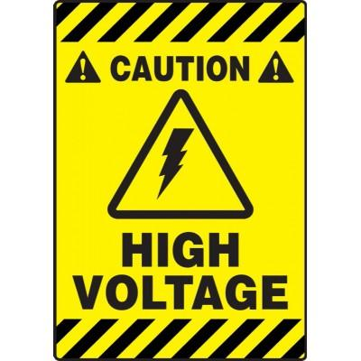 Caution - High Voltage - Mat Style Floor Sign