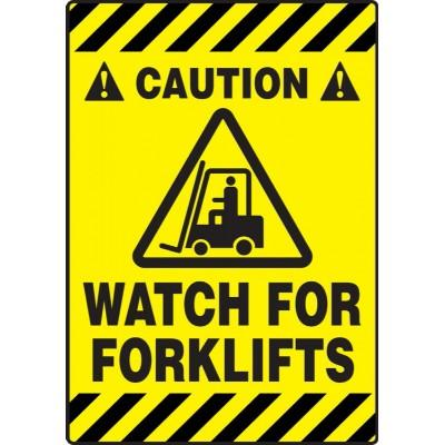 Caution - Watch for Forklifts - Mat Style Floor Sign