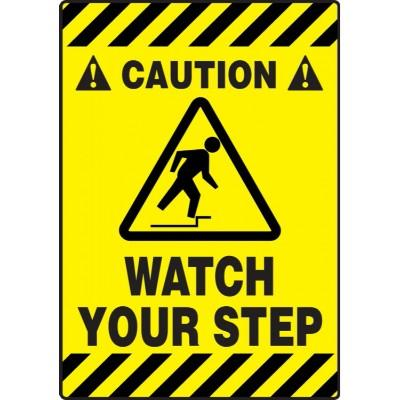 Caution - Watch Your Step - Mat Style Floor Sign