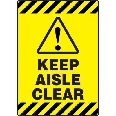 Keep Aisle Clear - Mat Style Floor Sign