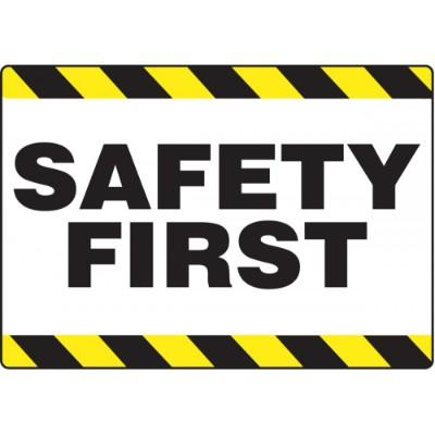 Safety First - Mat Style Floor Sign