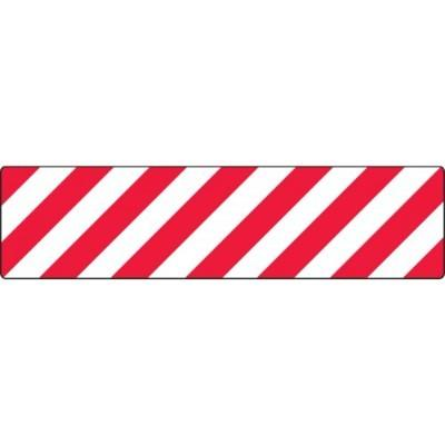 Red/White Stripes - Skid-Gard® Floor Sign