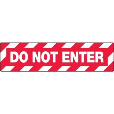 Do Not Enter - Skid-Gard® Floor Sign