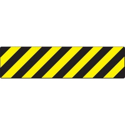 Black/Yellow Stripes - Skid-Gard® Floor Sign