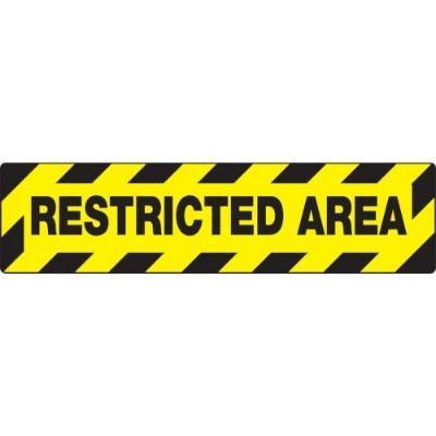 Restricted Area - Skid-Gard® Floor Sign