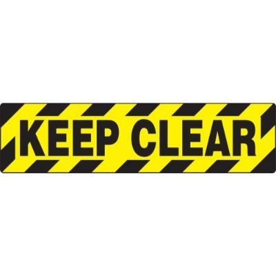 Keep Clear - Skid-Gard® Floor Sign