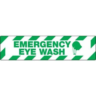 Emergency Eye Wash - Skid-Gard® Floor Sign