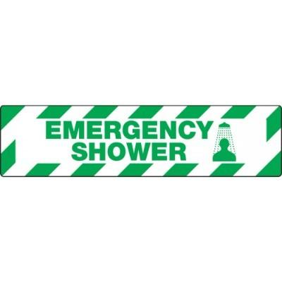 Emergency Shower - Skid-Gard® Floor Sign