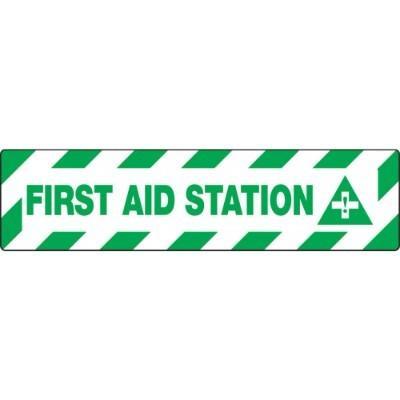 First Aid Station - Skid-Gard® Floor Sign