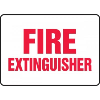 Fire Extinguisher Sign (White Background)