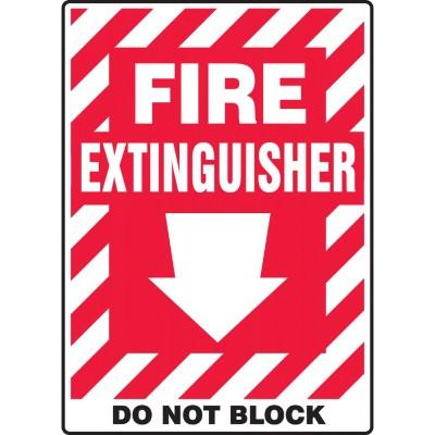 Fire Extinguisher - Do Not Block Fire Extinguisher Sign