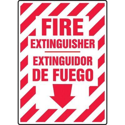 Fire Extinguisher Sign (Bilingual Spanish)