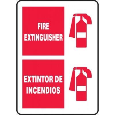 Fire Extinguisher Sign (Bilingual Spanish Graphic)
