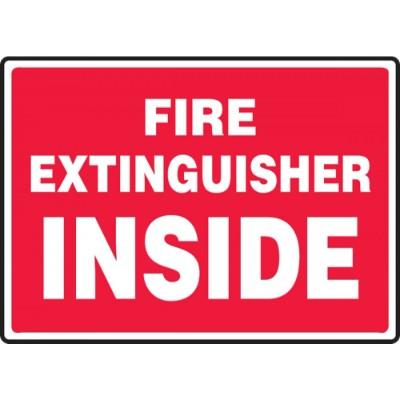 Fire Extinguisher Inside Sign (Large Text)