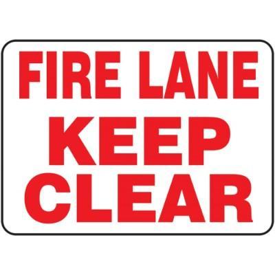 Fire Lane - Keep Clear Emergency Sign