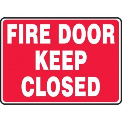 Fire Door - Keep Closed Emergency Sign