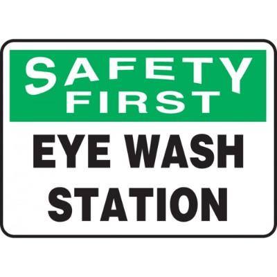 safety first eye wash station osha first aid sign - Eye Wash Station Osha