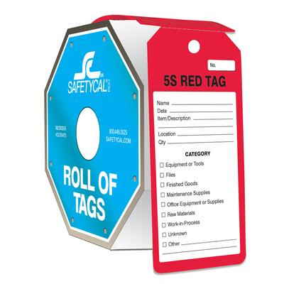 5S Red Roll of Tags
