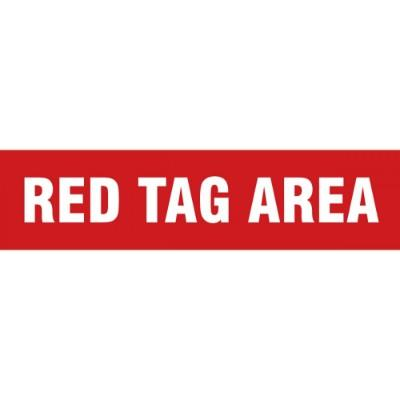 Floor Message Strip - Red Tag Area