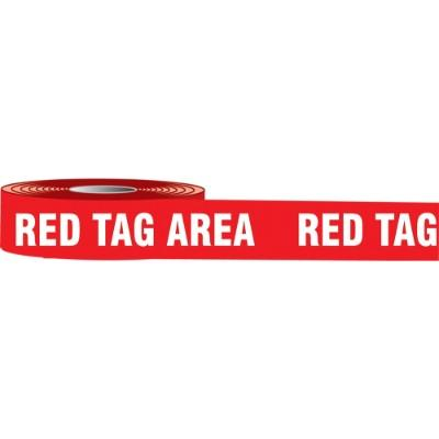 Red Tag Area Barricade Tape