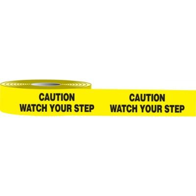 Floor Message Tape - Caution Watch Your Step