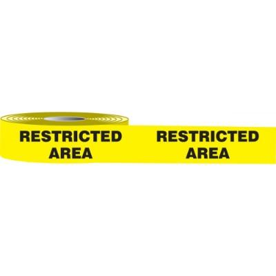 Floor Message Tape - Restricted Area