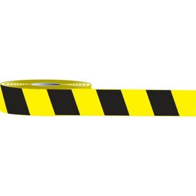 Floor Message Tape - Black/Yellow Stripes