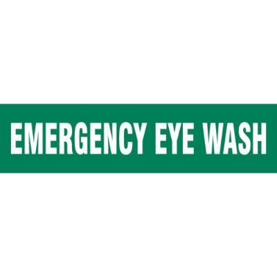 Floor Message Strip - Emergency Eye Wash