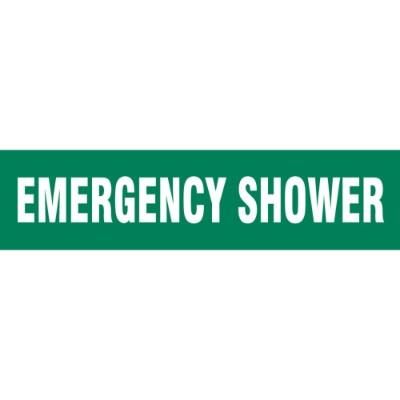 Floor Message Strip - Emergency Shower