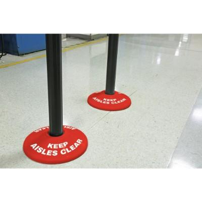 Keep Aisles Clear - Stanchion Post Base Cover