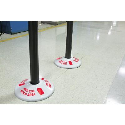 Red Tag Hold Area - Stanchion Post Base Cover