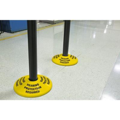 Hearing Protection Required - Stanchion Post Base Cover