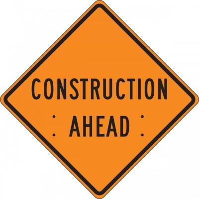 Construction Ahead Roll-Up Construction Sign