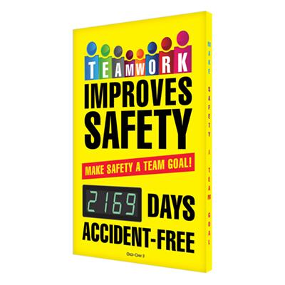 Teamwork Improves Safety _ Days Accident Free (Updated) Safety Scoreboard