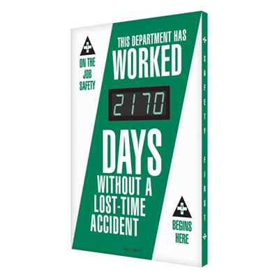 This Department Has Worked _ Days Without a Lost-Time Accident (Updated) Safety Scoreboard