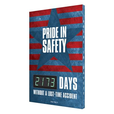 Pride in Safety _ Days Without a Lost-Time Accident (Star) Safety Scoreboard